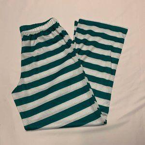 Cat & Jack Size L Green/White Striped Pants
